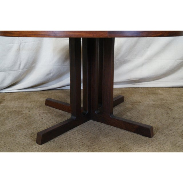 Vintage Danish Modern Rosewood Round Dining Table - Image 3 of 10