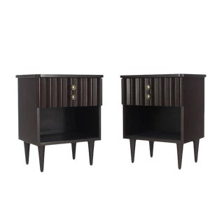 Pair of Ebonized Mid-Century Modern Ebonized End Tables