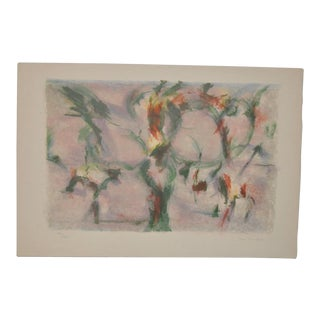 Mid-Century Abstract Lithograph by Jean Lombard c.1950