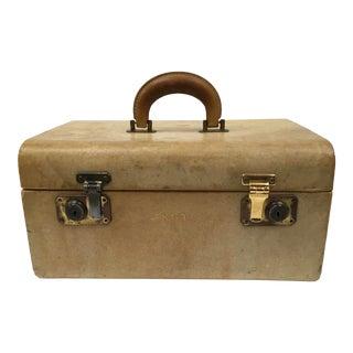 Vintage Monogrammed Leather Train Case