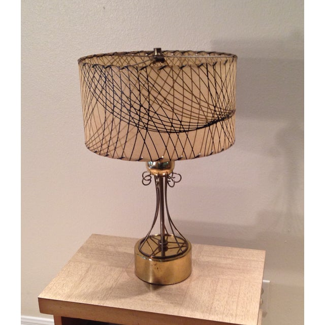 Atomic Era Brass Table Lamp - Image 3 of 6