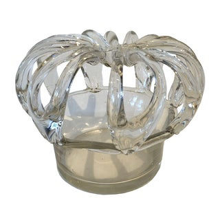 Victorian Glass Bridal Basket