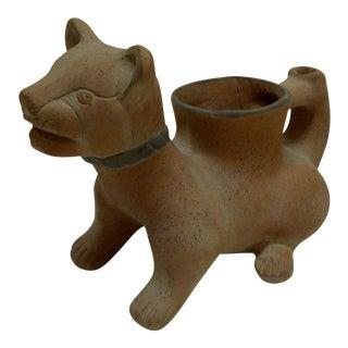 Pre-Columbian Cat Vase