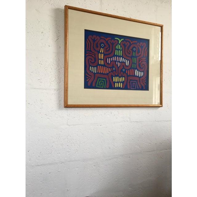 Vintage Indian Mola Framed Textile Art - Image 10 of 10