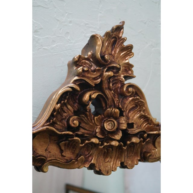 Image of Vintage Gilt Carved Rococo Hanging Wall Mirror