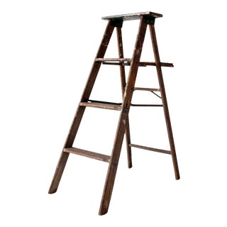 Vintage Folding Wood Ladder