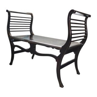 Black Lacquer English Bench