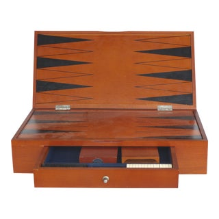 Wooden Cased Backgammon Set