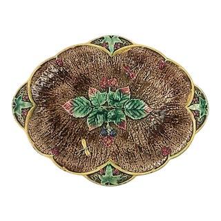 English Majolica Platter