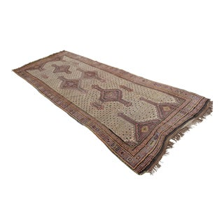 Primitive Hand Knotted Turkish Kars Rug - 4′7″ × 12′2″