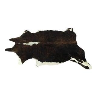 Brown & White Cowhide Rug - 5′8″ × 6′3″