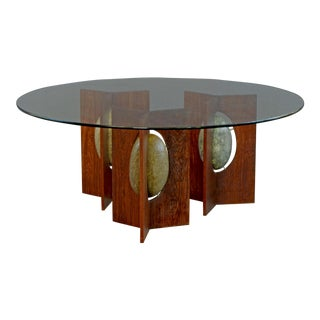 Morgon Round glass Top Coffee Table