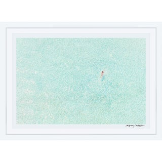"Gray Malin Medium ""Girl in Pink, Bora Bora"" (à La Plage) Signed Framed Print"
