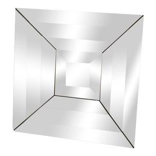 Italian Beveled Op Art Mirror