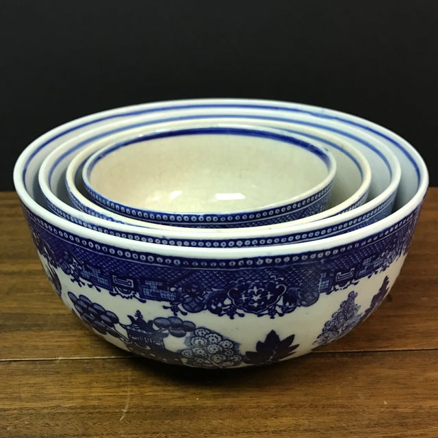 Blue Willow Nesting Bowls - Set of 4 - Image 5 of 6