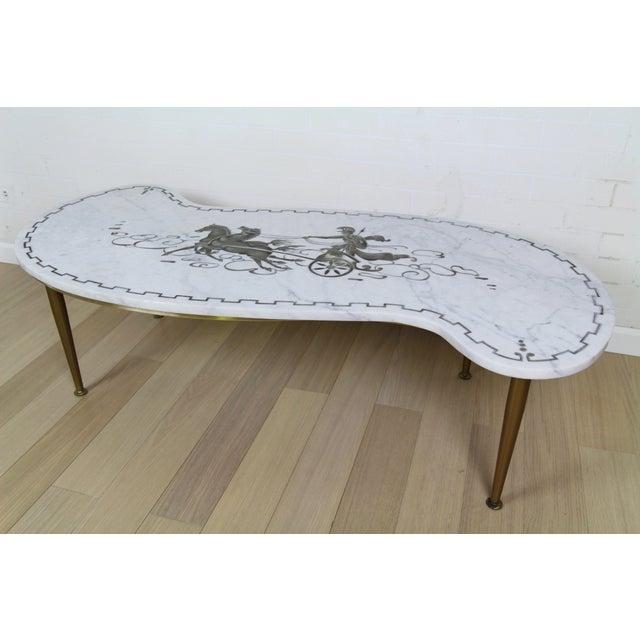 Vintage Italian Chariot Style Marble Coffee Table Chairish