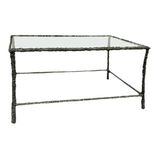 Vintage Forged Iron Table in the Manner of Diego Giacometti