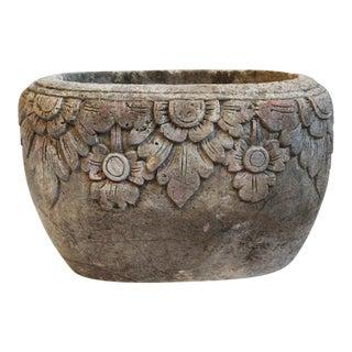 Carved Stone Pot