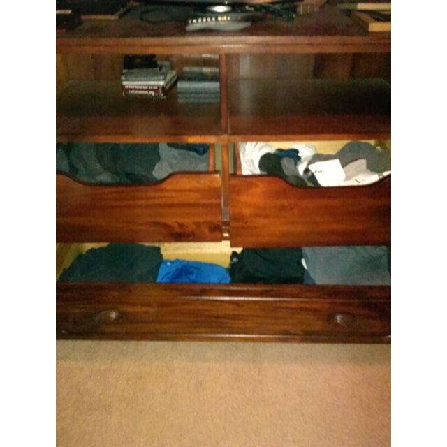 Image of Double Mirror Wooden Three-Drawer Armoire