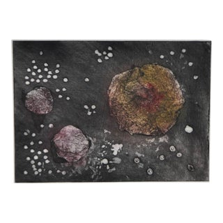 "Arnold Grossman (California) ""Cosmos"" Color Etching"