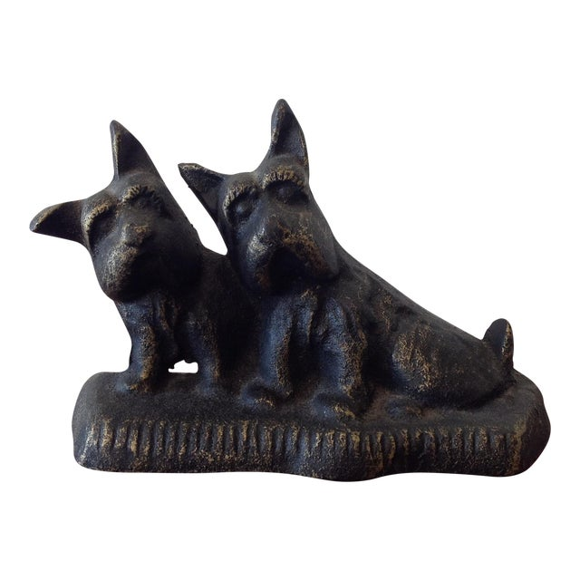Cast Iron Dog Door Stop - Image 1 of 7
