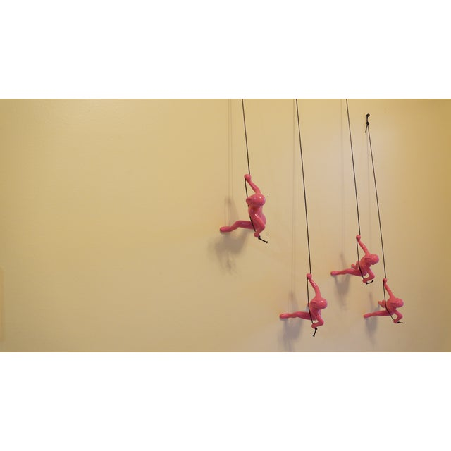 Pink Climbing Man Wall Art - Set of 4 - Image 2 of 7