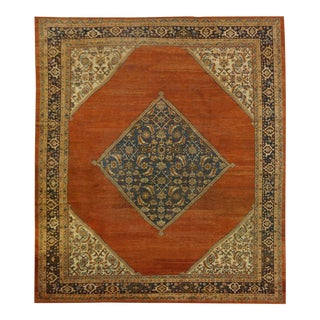 Antique Persian Sultan Abad Rug - 9.1 x 9.10