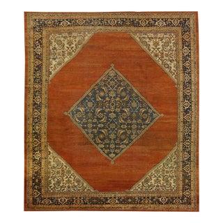 Antique Persian Sultan Abad Rug - 9.1 x 9.10