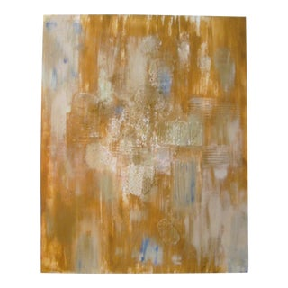 Vintage Goldenrod Abstract Painting
