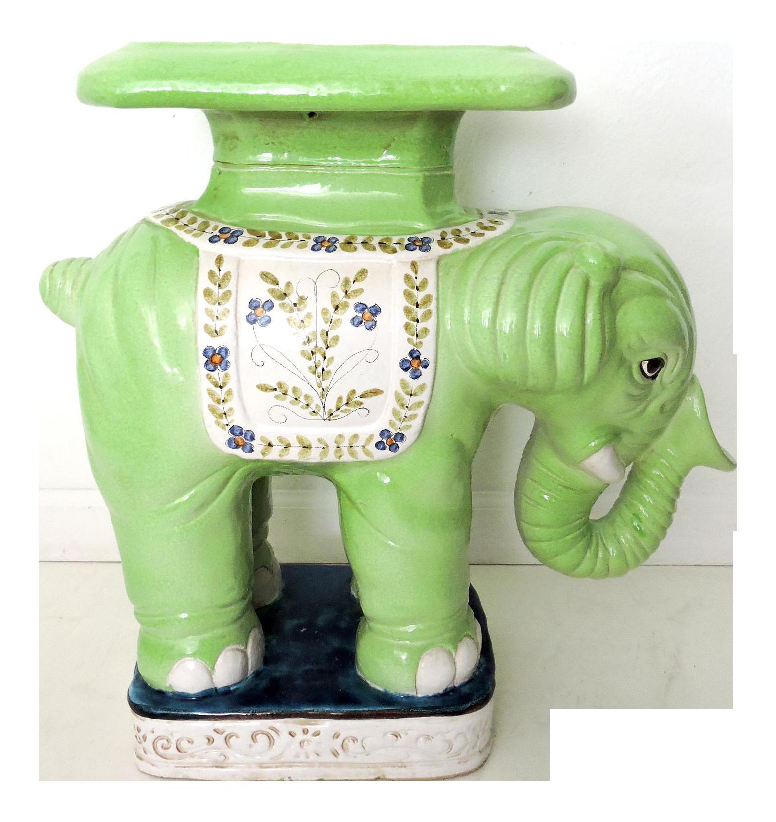 Italian Elephant Garden Stool  sc 1 st  Chairish & Vintage u0026 Used Green Garden Stools   Chairish islam-shia.org