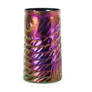 Modernist Fish Vase W/ Iridescent Glaze