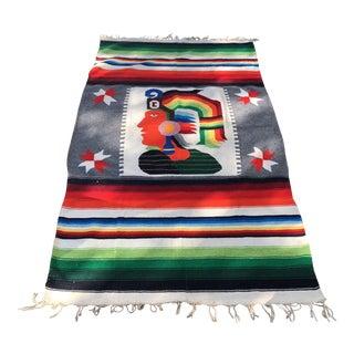 Inca Warrior Handwoven Tapestry