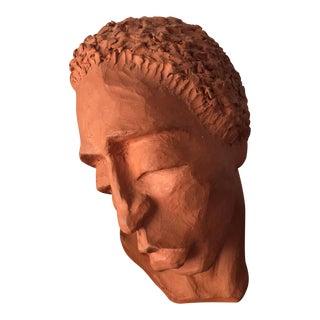 Clay Head Sculpture by E. Simpson