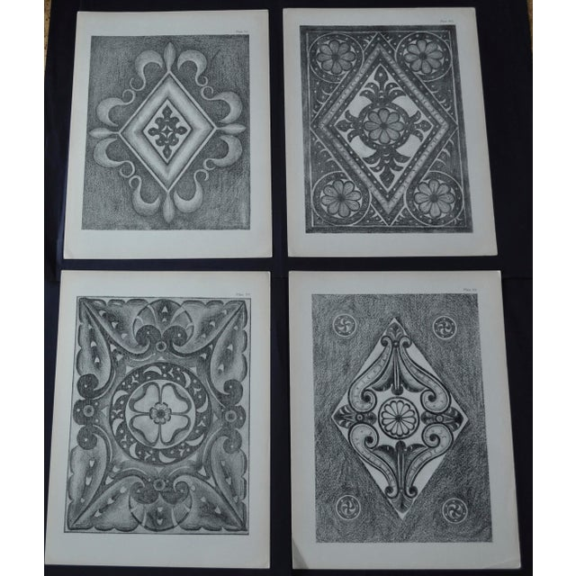 1906 English Photo-Tints, Charcoal Rubbings of Woodcarving - a Pair - Image 11 of 11