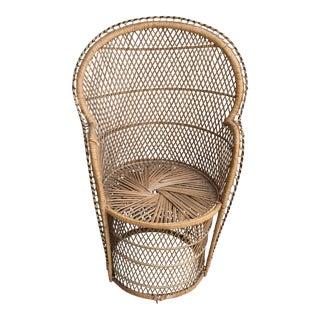 Vintage Boho Chic Wicker Chair