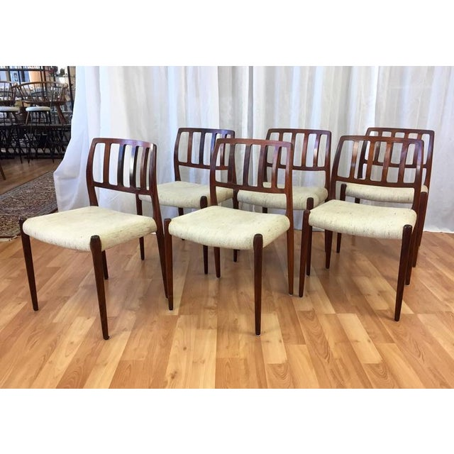 "Niels Møller ""Model 83"" Rosewood Dining Chairs - Set of 6 - Image 3 of 10"