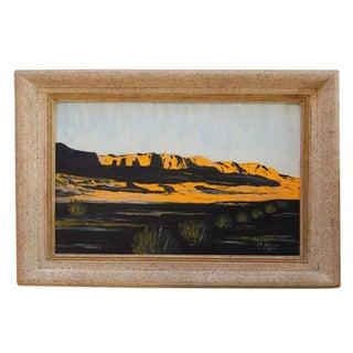 Vintage Modern Impressionist Oil Painting 1950s
