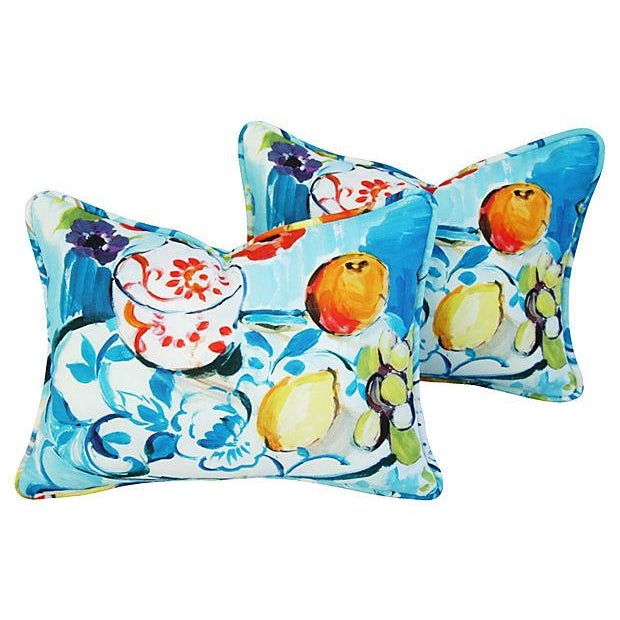 Designer Ronnie Gold Cezanne Style Pillows - Pair - Image 1 of 7