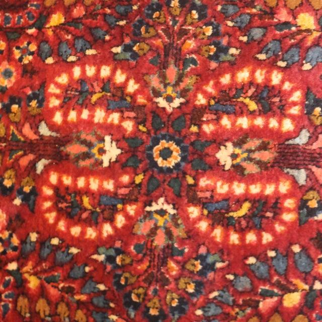 "Antique Persian Sarouk Runner Rug 4' x 2'1"" - Image 3 of 5"