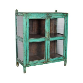 Antique Painted Display Cabinet