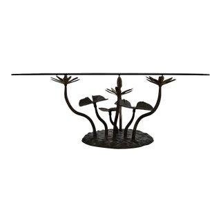 Stylish Mid-Century Modern Lotus Coffee Table