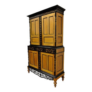 Indo Dutch Portuguese Colonial Style Satinwood Cupboard