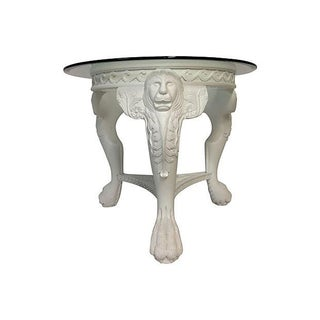 80's Carved Lion's Head Center Table