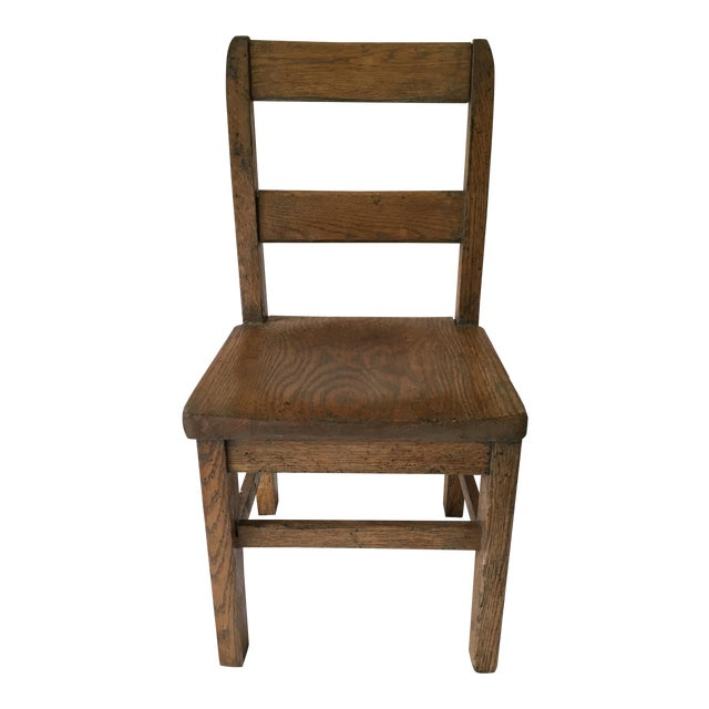 Oak Child's Desk Chair - Image 1 of 4