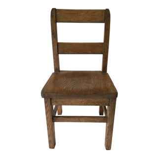 Oak Child's Desk Chair