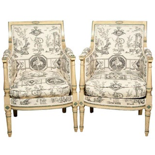 French Directorie Bergeres by Jansen - A Pair