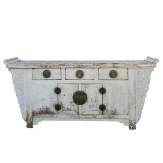 Antique White Chinese Sideboard