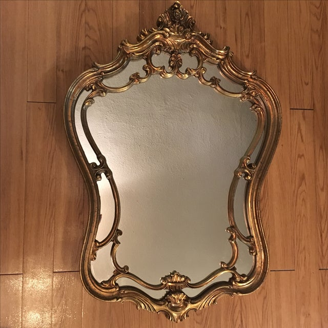 Vintage Ornate Arched Gold Mirror - Image 2 of 6