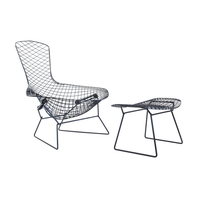 Image of Harry Bertoia for Knoll Bird Chair & Ottoman Set