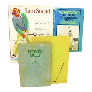 Vintage Golf Book Collection - Set of 4